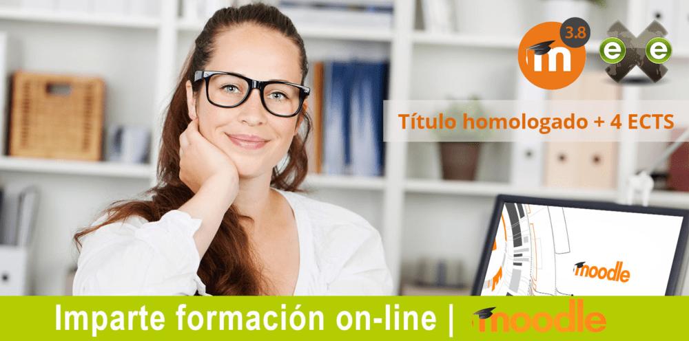 Nuestro curso Moodle 3.8 para docentes incluye un título universitario por la Universidad Antonio de Nebrija