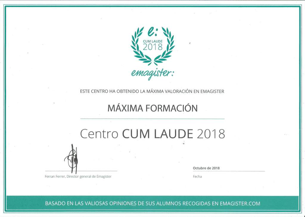 sello cum laude EMagister diploma