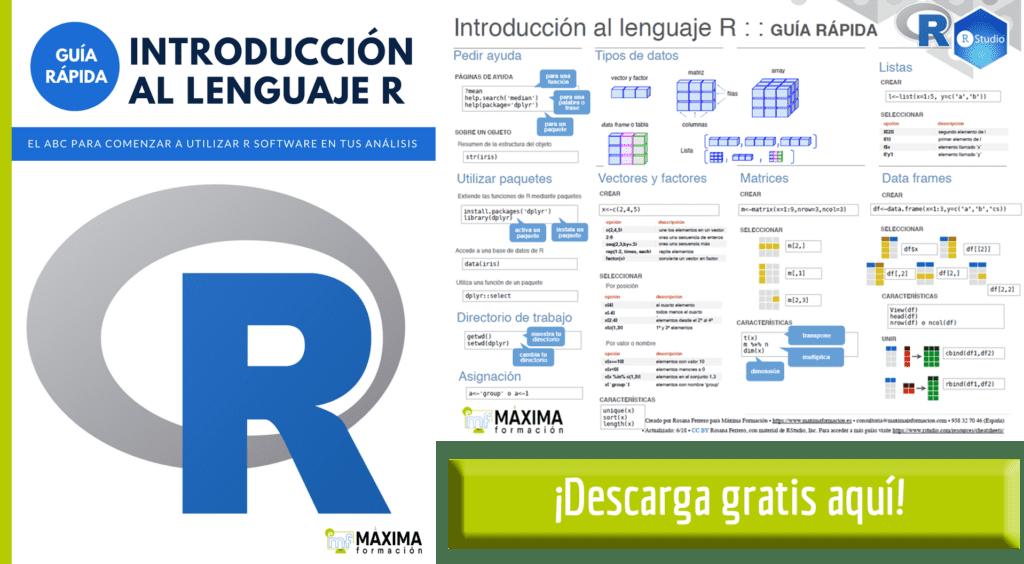 Guia rápida R Software gratis Máxima Formación