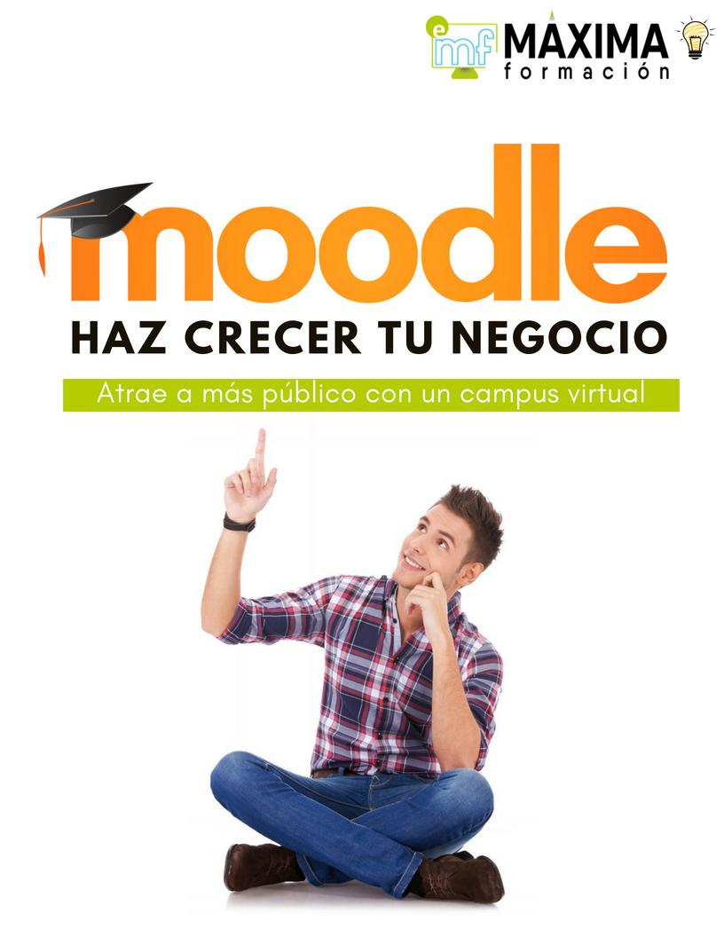 Haz crecer tu negocio con Moodle. Moodle Enseñanza Virtual E-Learning
