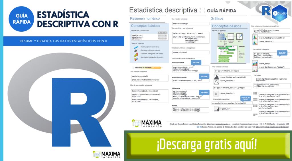 Guía Rápida Estadística Descriptiva con R Gratis