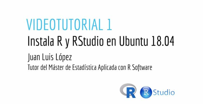 Instala R y Rstudio en Ubuntu