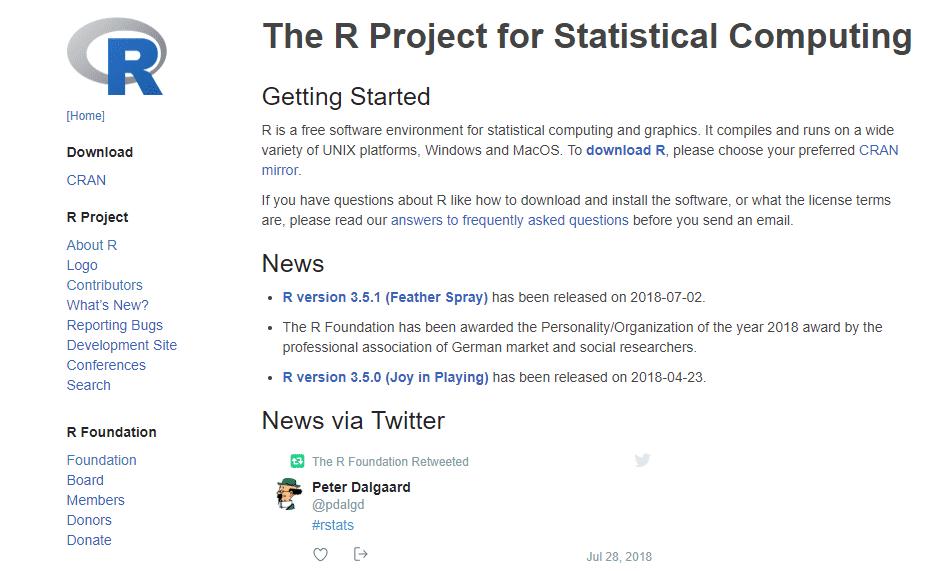 Página oficial R project