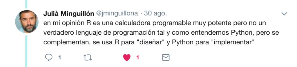 Twitter R vs Pyhton 2018 5